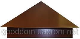 Колпаки на забор столбы RAL: 8017 ( коричневый )