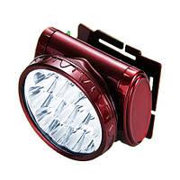 Современный фонарь налобный светодиодный фонарик  Yajia YJ - 1898 аккумуляторный 13 LED