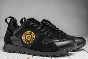 Стильные мужские кроссовки Fendi Roma, две модели