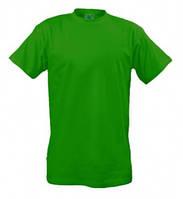Промо футболка мужская зелёного цвета однотонная производство Stuff из хлопка