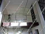 Стеклянные перила (перила из стекла) для лестниц, балконов, террас, фото 3