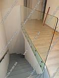 Стеклянные перила (перила из стекла) для лестниц, балконов, террас, фото 4
