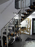 Стеклянные перила (перила из стекла) для лестниц, балконов, террас, фото 5