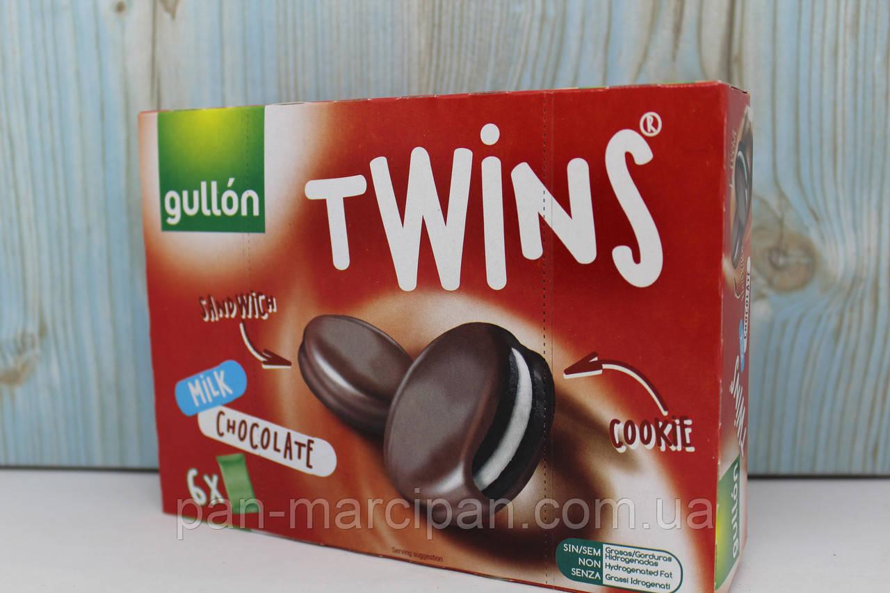 Печиво GULLON Twins сендвіч в молочному шоколаді, 252 г