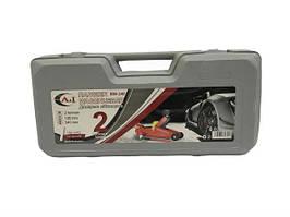 Домкрат гидравлический 2 т усиленный (подкатной) 7,5 кг в чемодане 135-340mm RW 340 *A&I