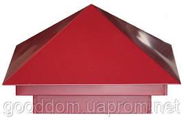 Колпаки на столбы RAL: 3011 ( красный )
