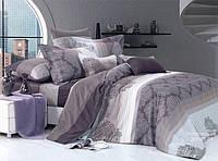Комплект евро постельного белья бязь с узорами темное
