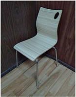 Штабелируемый стул Хорека-WB фанера на металлических ногах, цвет бук натуральный, стулья для HoReCa