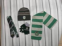 Шарф, шапка, перчатки галстук Хогвартс Слизерин