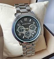 Женские часы Michael Kors серебристые с черным экраном с датой, фото 1