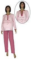 Пижама трикотажная для беременных и кормления 21003 Beautiful коттон / интерлок Розовая с лиловым
