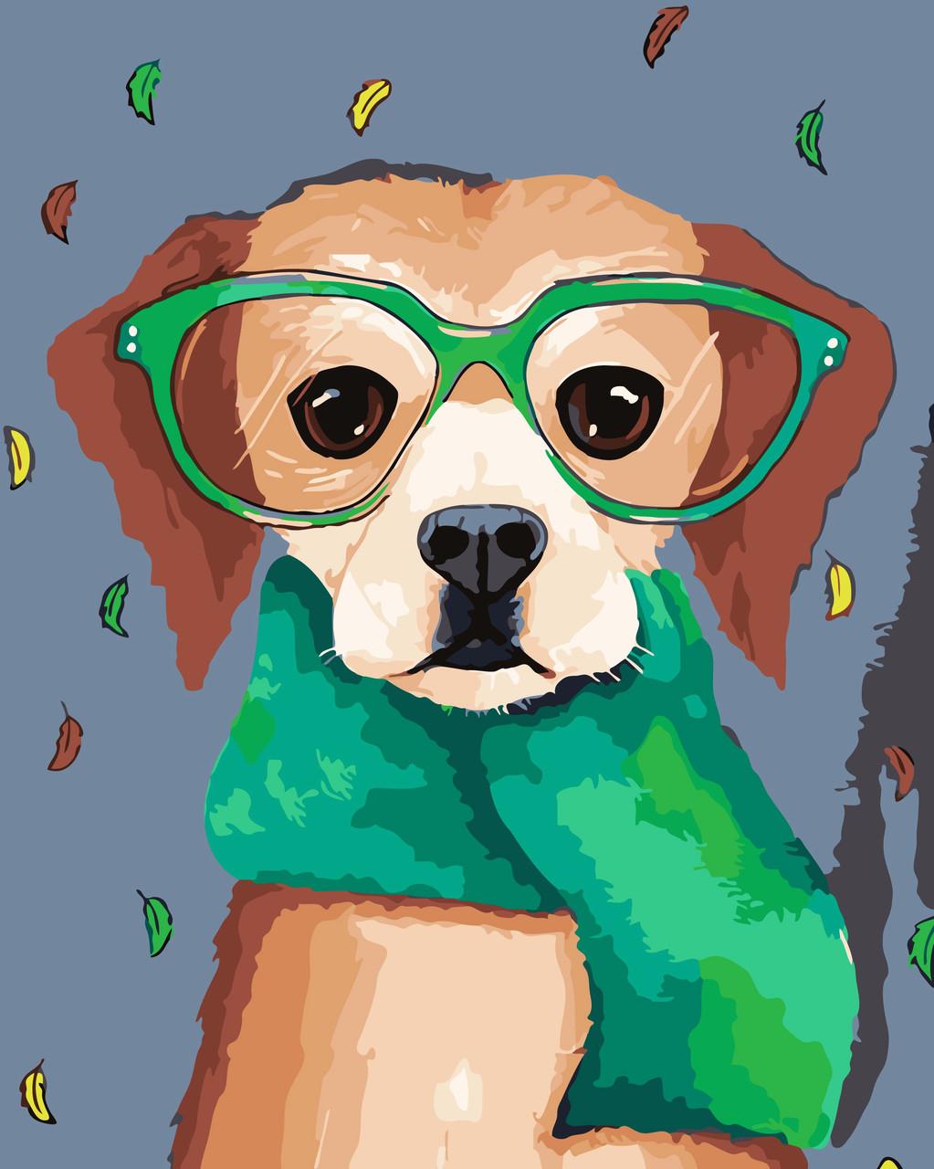 Художественный творческий набор, картина по номерам Пёс в очках, 40x50 см, «Art Story» (AS0071)