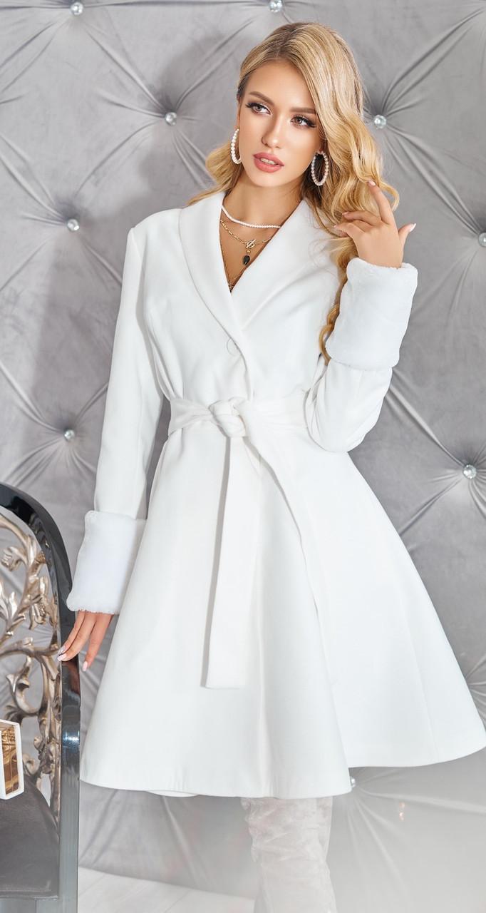 Біле кашемірове пальто жіноче 42,44,46 р.