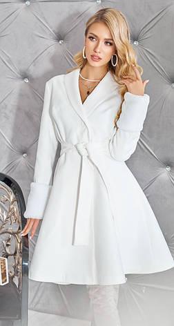 Біле кашемірове пальто жіноче 42,44,46 р., фото 2