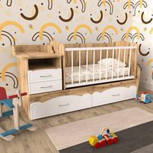 Детская кроватка для новорожденного МДФ ДМ 043 — ДУБ ТАХО