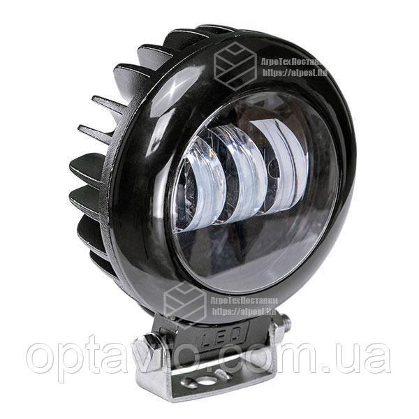 Фара LED кругла 30W (3 діода) black