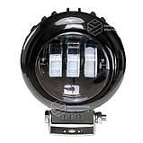Фара LED кругла 30W (3 діода) black, фото 3