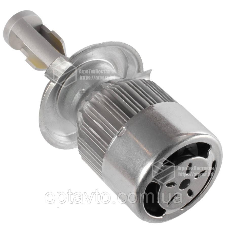 C6 Лампа світлодіодна цоколь H3 (к-кт 2 шт) 12/24V, 36W, 3800Lm + вентилятор (авиац. алюмін. профілю.)