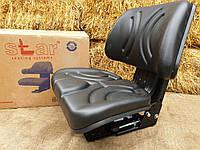 Сиденье, кресло МТЗ, ЮМЗ, Т-16, Т-25, Т-40, Т-150 Star (с регулировкой веса)