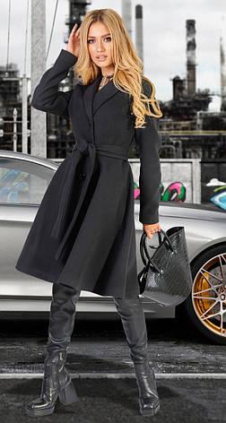 Чорне кашемірове пальто жіноче 42,44,46,48 р., фото 2