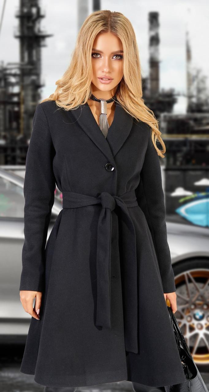 Чорне кашемірове пальто жіноче 42,44,46,48 р.