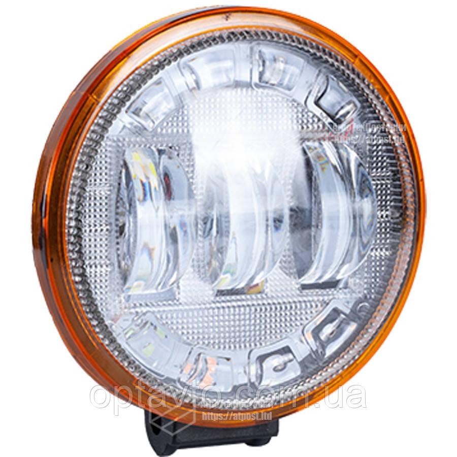 Фара LED круглая 30 W +  светящееся LED кольцо. Гарантия! От 2-х штук цена ниже!
