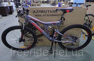 Подростковый велосипед Azimut Blackmount 24 G-FR/D (16) серый