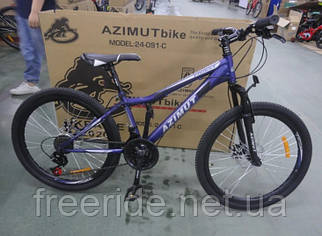 Подростковый велосипед Azimut Forest 24 G-FR/D (12.5) фиолетовый