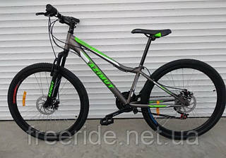 Подростковый велосипед Azimut Forest 24 G-FR/D (12.5) серо-салатовый