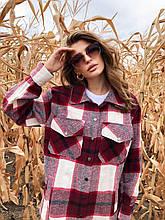 Сорочка в середню клітку M&K Червоний