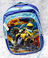 Рюкзак школьный с мотоциклом CM-1614 для мальчика