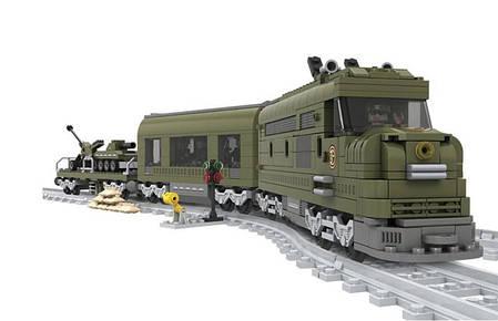 Конструктор Ausini Поезд: Военный эшелон, 764 деталей арт. 25003, фото 2