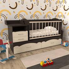 Детская кроватка для новорожденного МДФ ДМ 043 — ДУБ НЕМО ЛАТТЕ