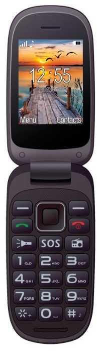 Телефон кнопочный раскладушка бабушкофон на 2 сим карты Maxcom MM818 черный