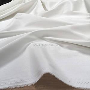 Ткань коттон стрейч бело-молочный