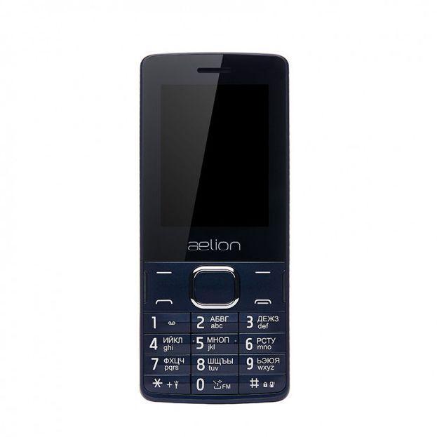 Телефон с мощной батареей мобильный кнопочный на 2 сим карты AELion A500 синий