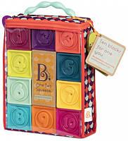Розвиваючі силіконові кубики Battat - ПОРАХУЙ-КА! (10 кубиків, в сумочці), фото 1