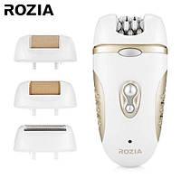 Эпилятор Rozia Hb-6007 Женский С 4 Насадками + Подарочная Упаковка Белый, фото 1