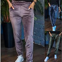 Р 42-56 Велюровые утепленные брюки 23323