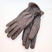 Жіночі трикотажні рукавички з сенсорним пальцем на хутрі