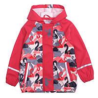 Детский Дождевик полеуретан без утеплителя, Куртка, красная Грязепруф, Lupilu 110-116