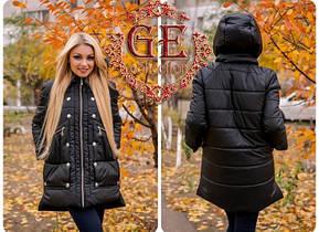 Жіноча куртка - копія відомого італійського бренду, фото 3