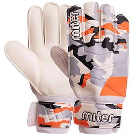 Перчатки для футбола MITER серо-оранжевые FB-6744, 9