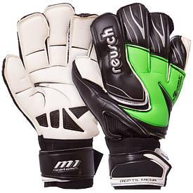 Перчатки для футбола REUSCH черно-салатовый FB-812, 10