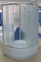 Душевая кабина полукруглая BADICO SAN 8519 H 90х90х200 с поддоном и сифоном полностенная