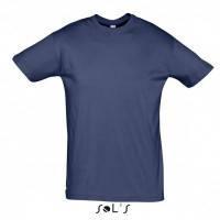 Однотонная хлопковая футболка с коротким рукавом мужская темно-синий цвет