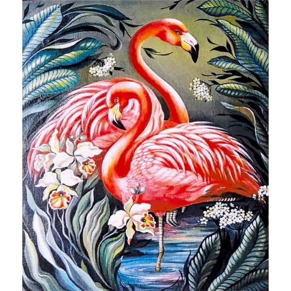 Картина по номерам 40х50 см DIY Розовый фламинго (FX 30331)