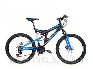 Подростковый велосипед Azimut Power 24 G-FR/D (17) черно-синий
