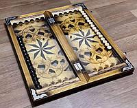 Нарди ручної роботи ЗІРКА (60х60 см.)
