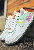 Женские кроссовки разноцветные Nike Air Force Shadow. Кроссы для девушек Найк Аир Форс Шедоу цветные